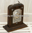 Old style wooden desk clock for home deco