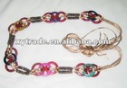 fashion ethnic style belt with colorful wood (XY - BE0046)