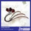 Silver Gemstone Brooch Jewelry(x040607ags)