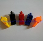 coloured professional plastic referee whistle