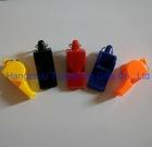 coloured professional plastic referee whistle