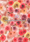 fashion multi color rose floral design sublimation heat transfer printing paper for garment fabrics
