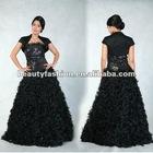 2012-2013 black color off shoudler & coat oustanding winter long elegant cocktail & ball eveing dresses & wedding dresses