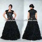 2012-2013 black color off shoudler & coat oustanding winter long elegant cocktail & ball eveing dresses & wedding dresses