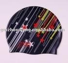 designed silicone swim caps