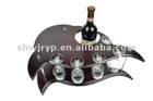 Dolphin DriverBone single layer wooden wine rack
