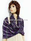 new style 100% polyester checked lady neck warmer