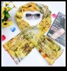 digital print silk scarf 2012