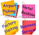 Airport picking/Hotel Booking Service/ Chinese Hotel reservation consultation/Factory Tour Arrangement /Business Interpretation