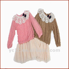 Beautiful Design Cotton Korean Kids Wear with Lace Around Neck
