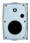 4 inch 2-way speaker system white or black plastic cabinet WSB-416T5