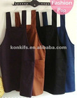 customize solid color apron kitchen with 100%cotton