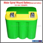 12V 4ah spiral wound motorcycle battery