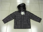 Wholesale & Retail Boys Hooded Plaid Goose Down Coat/Jacket