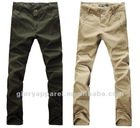 Brand mens casual canvas pants, khaki pants olive green pants