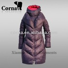 3/4 length woman down coats for outdoor wear