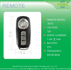 UNIVERSAL REMOTE CONTROL FOR CAR ALARM SYSTEM