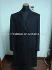 mens black overcoat