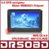 Wholesale 4.3 inch GPS Navigation car GPS 4G Nandflash RAM 128M DDR-II 19 languages menu free map