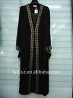 A081708 Hot sale boutique dubai black abaya with diamond and embroidery
