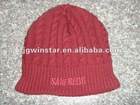 Simple Ladies' Knitted Hat with cables,winter hats