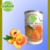 Delicious canned yellow peach