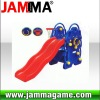 hot and funny outdoor playground blue cat slide