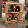 Wood Corner Display Showcase