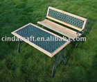Cast Iron Lattice Design Garden Bench Park Bench