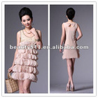 2012 new fashion style chiffon with appliqued skirt LYQ25