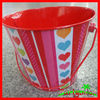 Colorful Tiny Tin Pail For Wedding Day Decoration