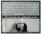 Replace new laptop keyboard US white FOR sony vpc-y11m1r