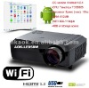 "WiFi 2800 Lumens Android 4.0 HD LED Projector ""Smart beam"" Support, WiFi 3D 16:9 Wide Screen projector"