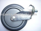 """4"""" crystal-clear PU caster"""