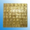 Golden capiz shell philippines wall tile for bathroom, TV background