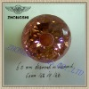 Light champagne round diamond in diamond cz stones