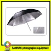 The silver reflective umbrella in black
