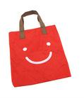 lovely smile face shopping bag ,big volume shopping bag