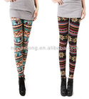fashion winter print fleece cotton leggings,christmas print cotton leggings