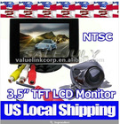"3.5"" TFT LCD rearview mirror car Monitor & CMOS/CDD Night Vision car camera"