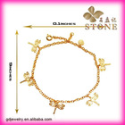 2011 China OEM 18 carat gold jewellery traditional anklets