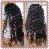 Deep wave 100% Indian remy hair full lace wigs