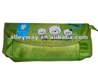 2012 school nylon pencil bag with zipper, pen box
