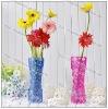2012 unbreakable plastic foldable flower vase soft vase