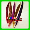 Factory Wholesale 100% Exporting 2012 Hot selling 25-30cm Dyed Pheasant Feathers