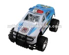 Pull back big police plastic car toy