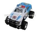 Pull back big police plastic car toy