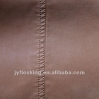 emboss flock pu leather for cloth