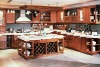 Hanex SW-06 South America red cherry wood kitchen cabinet