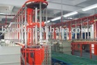Automatic vertical fluctutation annular electro-plating production line